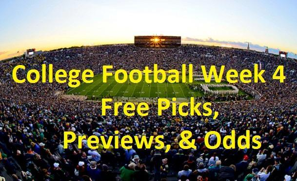 College Football Week 4 - Schedule, TV Schedule, Previews ...